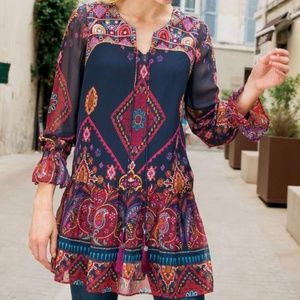 Soft Surroundings Iskra Printed Tunic